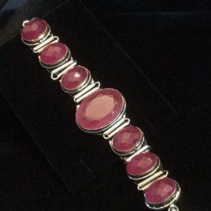 Breathtaking Genuine India Ruby Bracelet